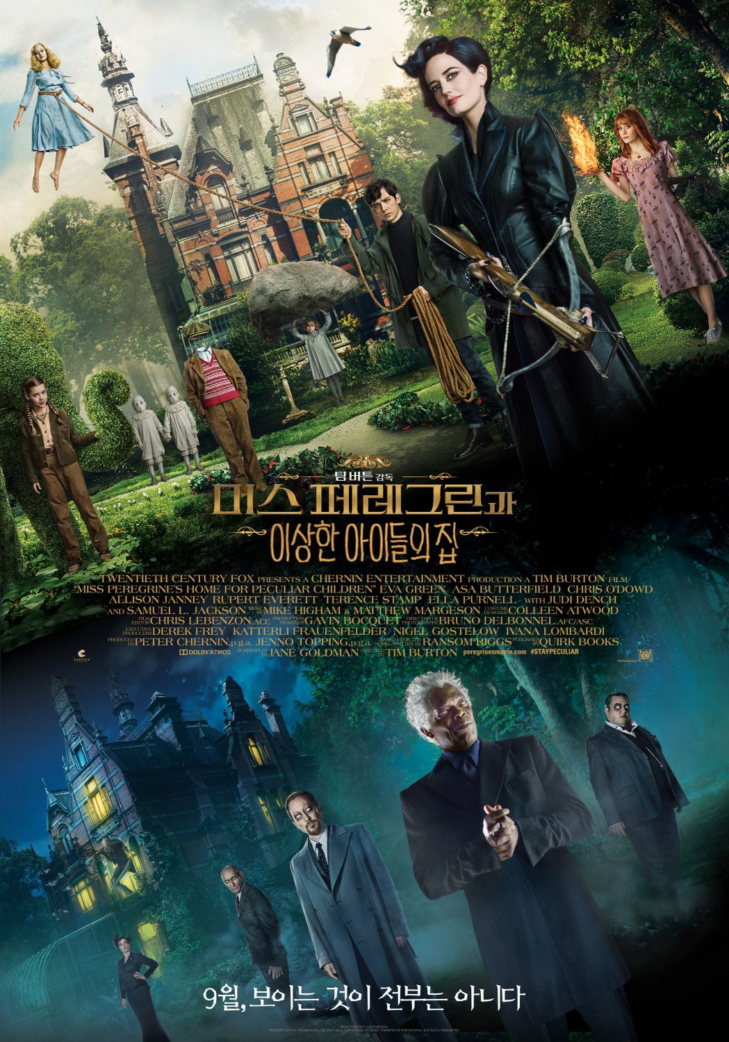 Miss Peregrines home for peculiar children - casa per ragazzi speciali by Tim Burton