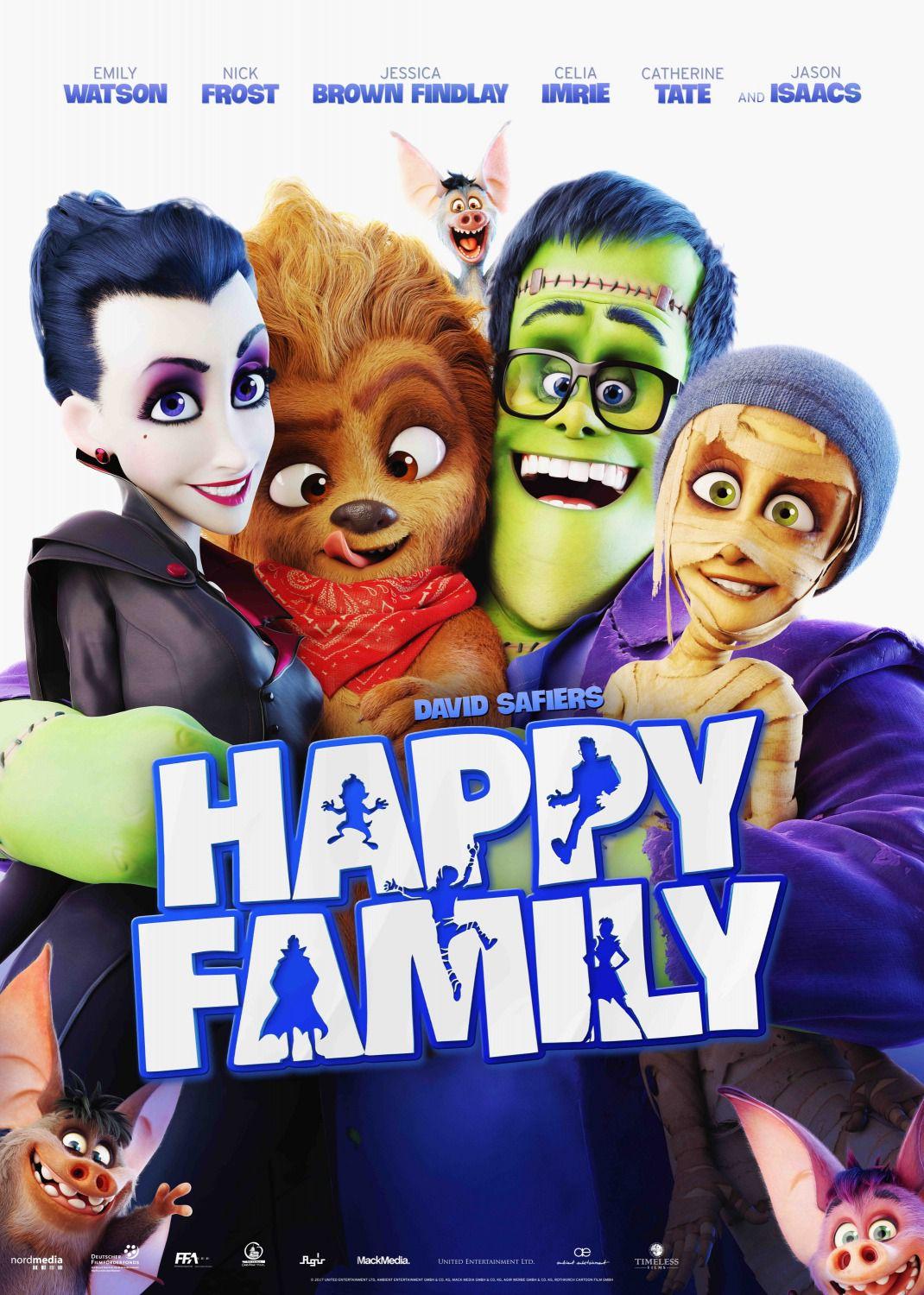 Monster Family - Happy Family - animated film poster