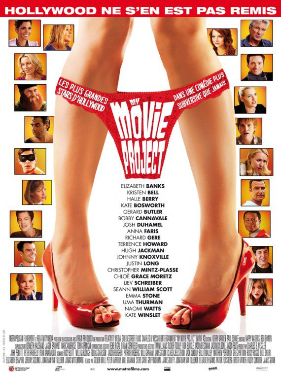 Movie 43 (censurado) - Cast: Halle Berry, Chloe Grace Moretz, Gerard Butler, Emma Stone, Richard Gere, Naomi Watts, Hugh Jackman, Kate Winslet - film poster