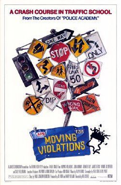 Moving Violation - film poster - Stop, One Way, 50 limited, road signs