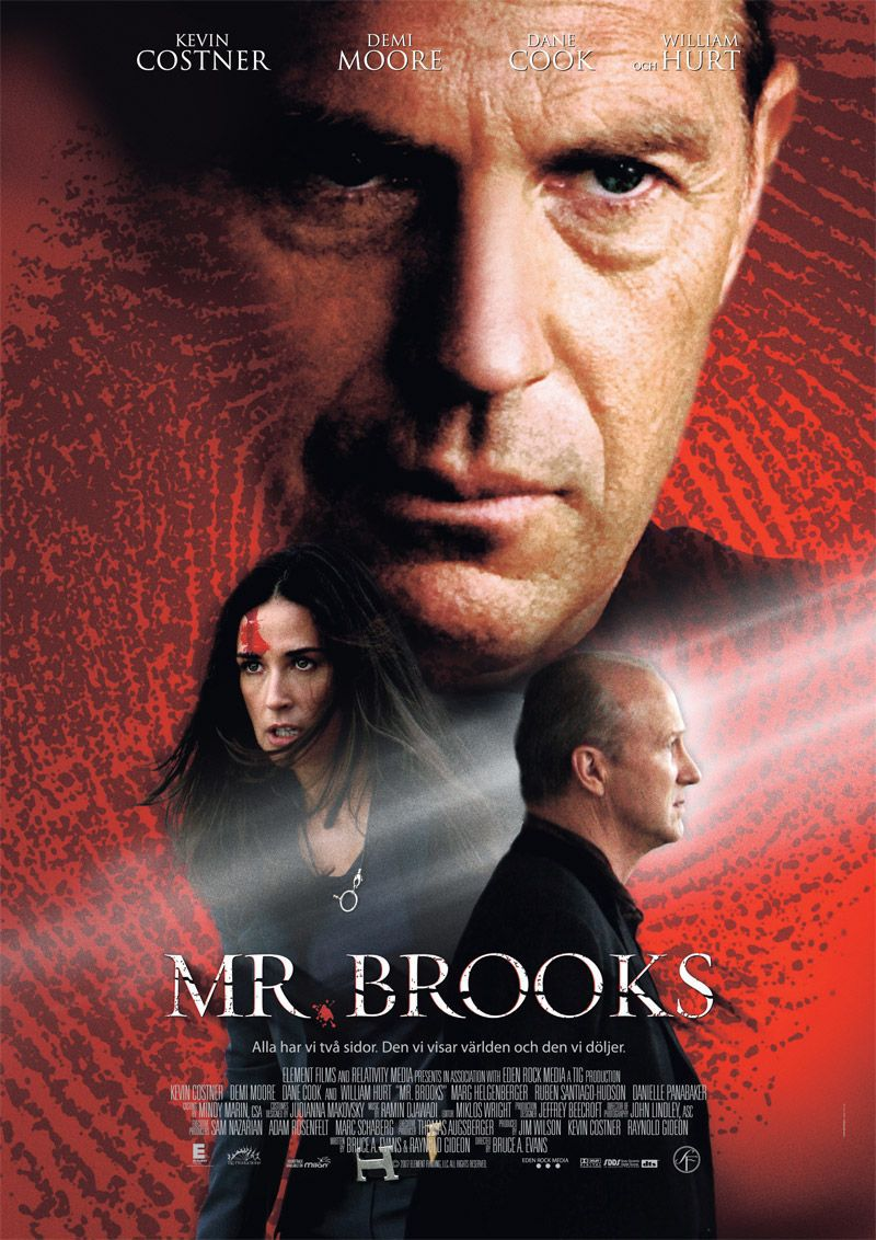 Mr Brooks - film poster  - Kevin Costner, Demi Moore, Dane Cook, William Hurt