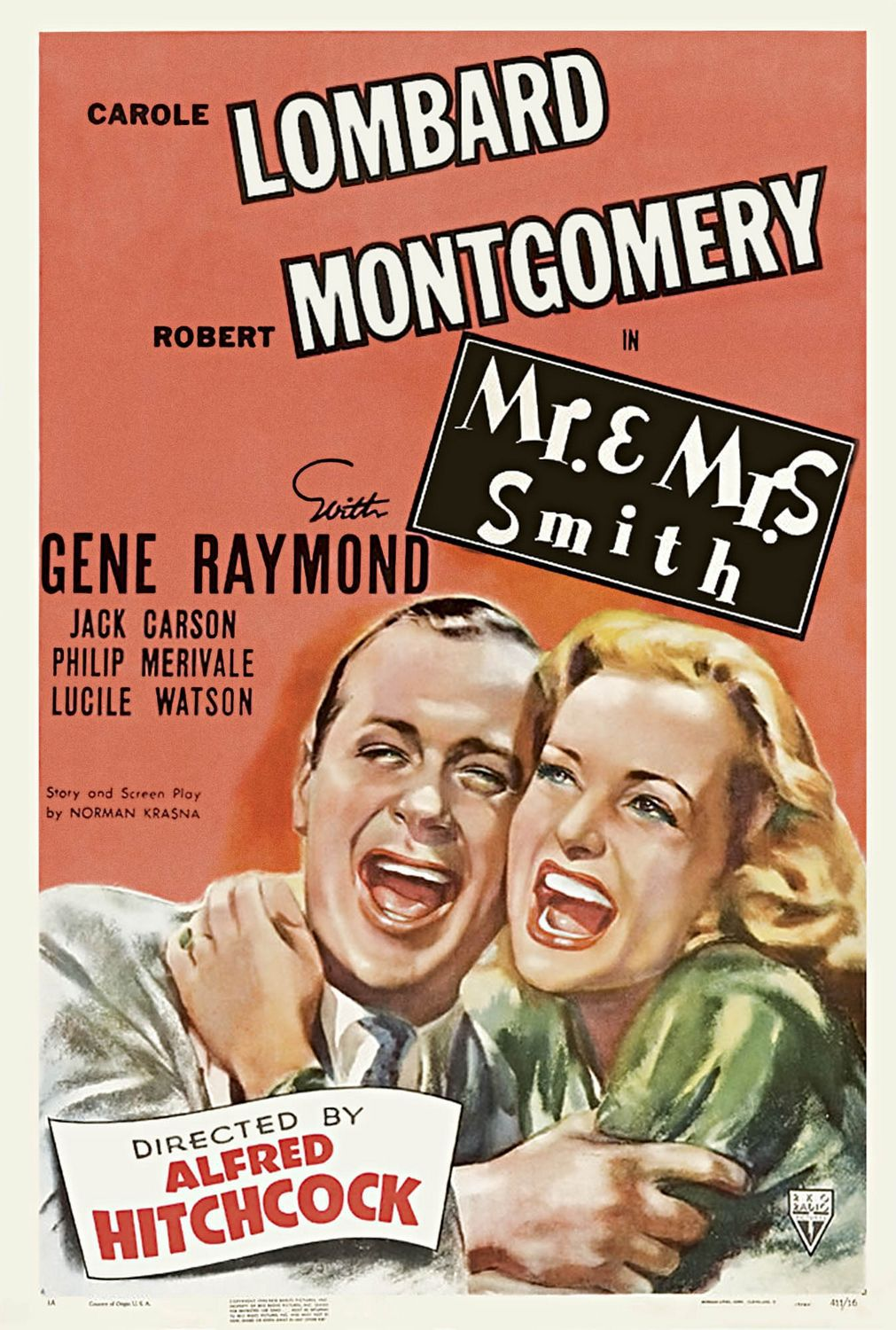 Mr and Mrs Smith (1941) - film poster