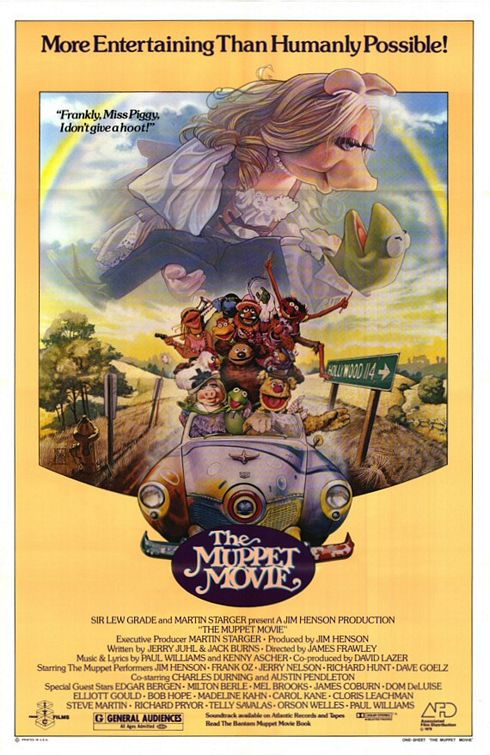 Muppets Movie (1979) - first movie, first love - classic muppets poster
