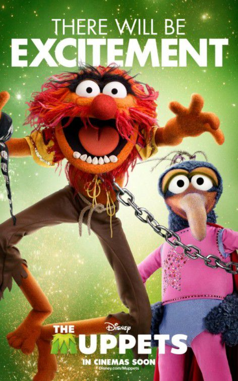 The Muppets - film 2012 - Animal and Gonzo - there will be excitement