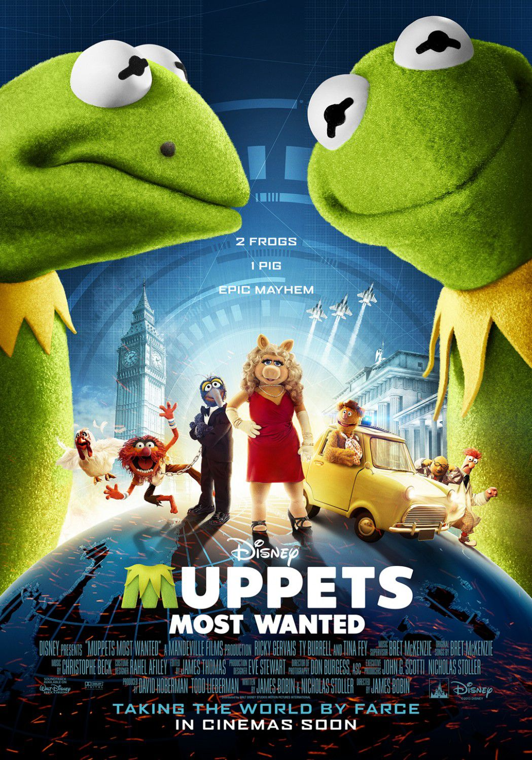 Muppets Most Wanted (2014) - Kermit poster