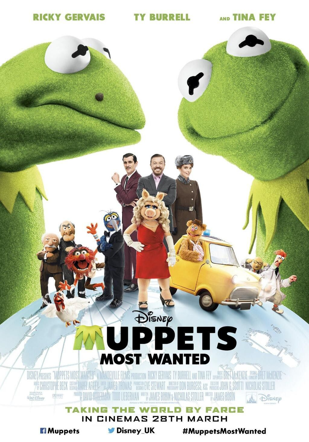 Muppets Most Wanted (2014) - Kermit adventure film poster