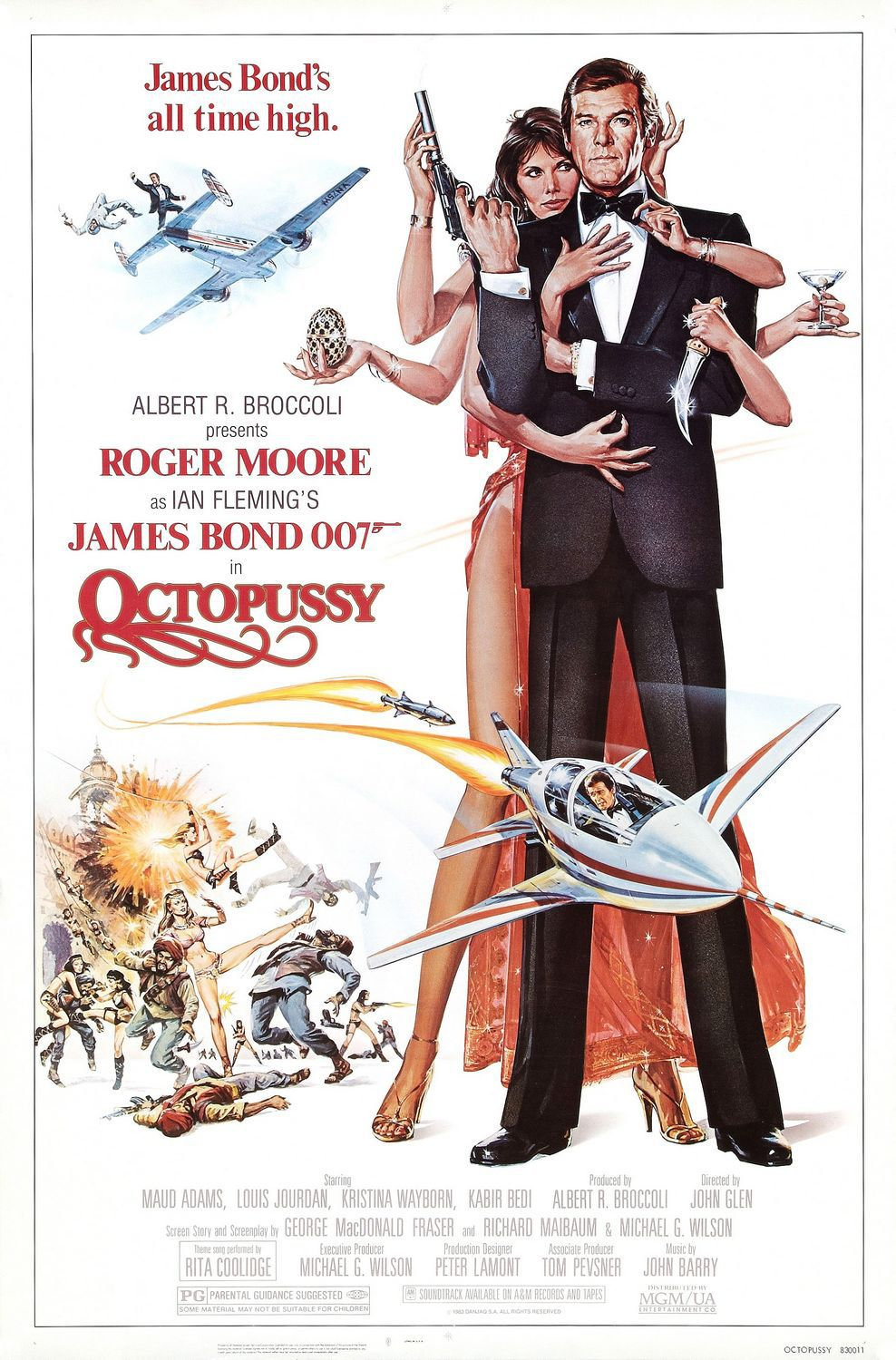 1983 - 007 Octopussy - Operazione piovra - film poster Roger Moore