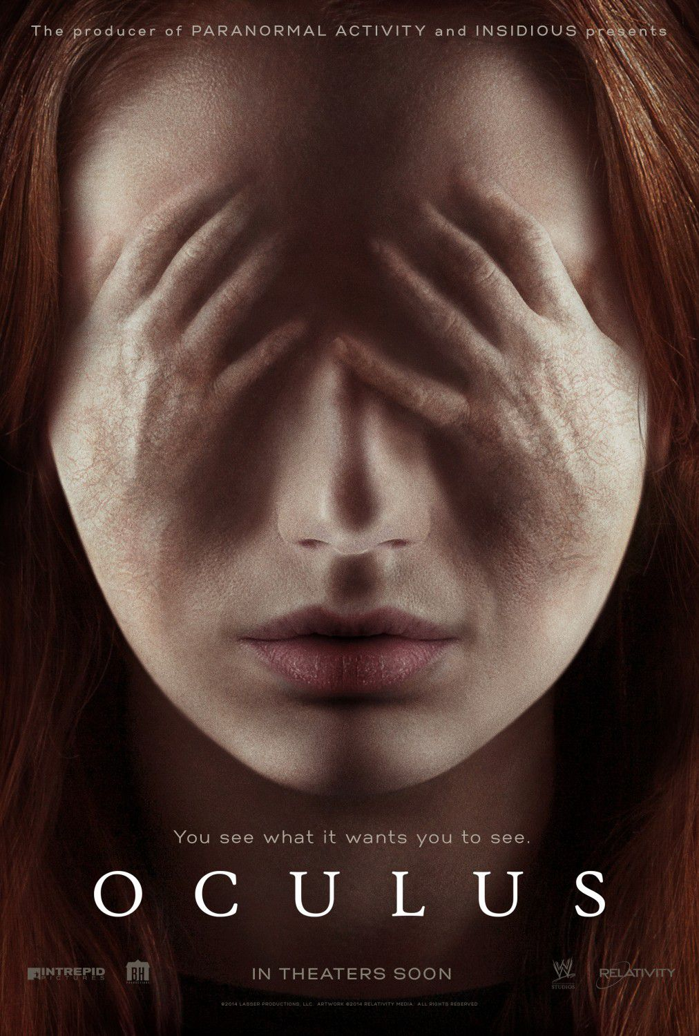Oculus - hand face film poster