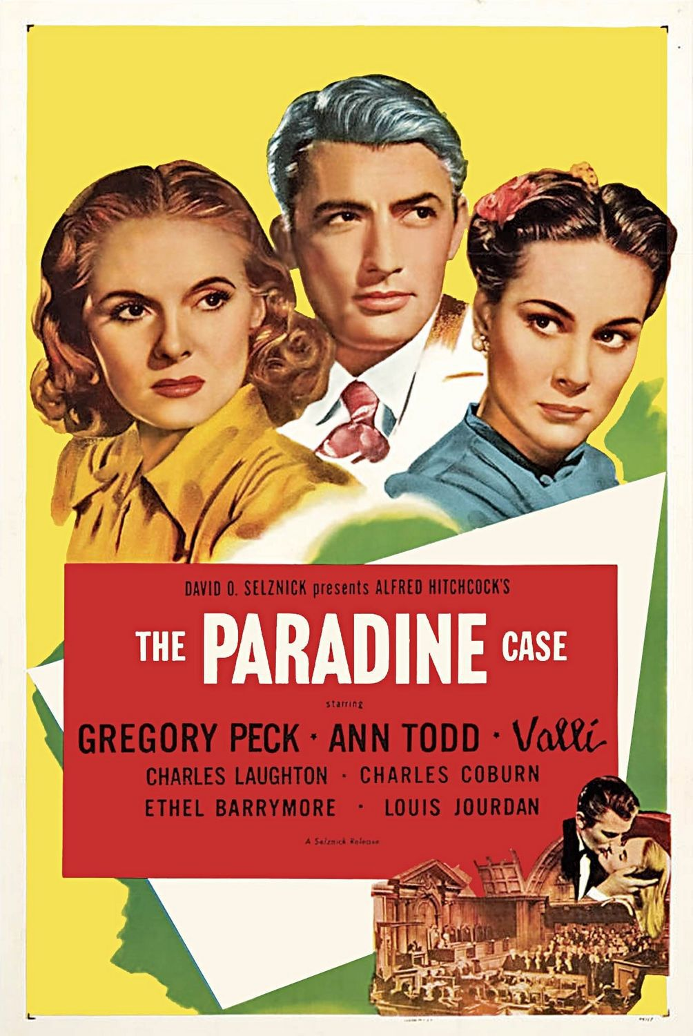 Paradine Case (1974) - classic cult film poster Gregory Peck