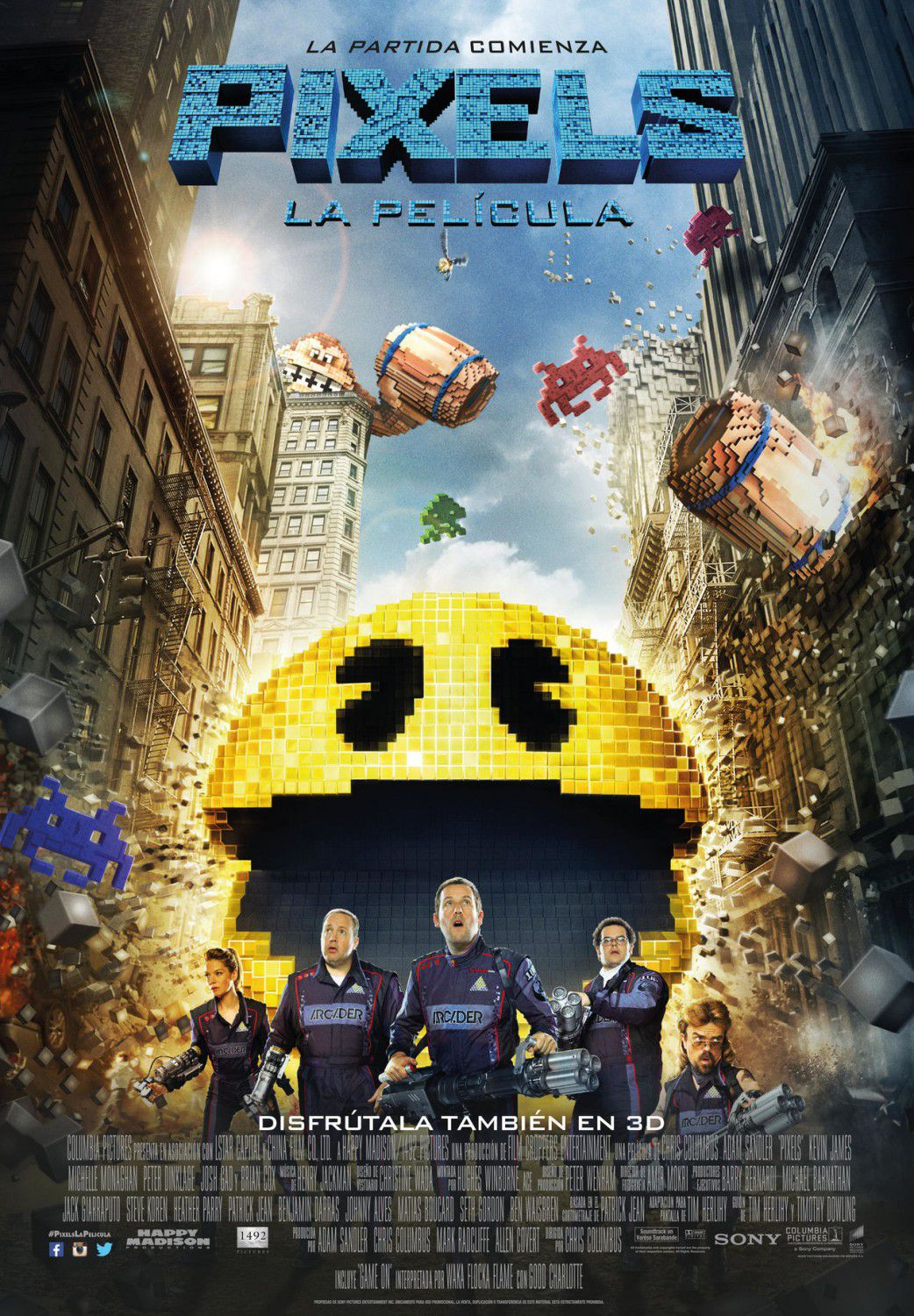 Film: Pixels (movie 2015) - giant Pac Man