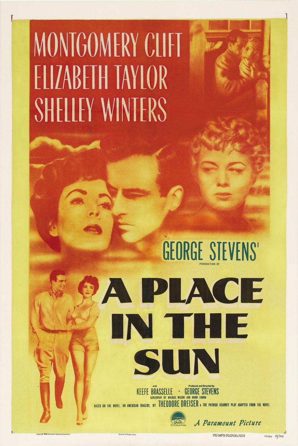 A Place in the Sun - Un Posto al Sole (1951) - film classic old poster