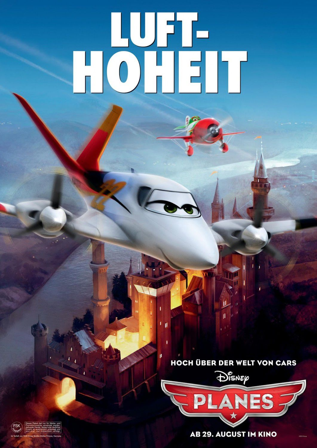 Planes - animated Disney film poster  - Luft