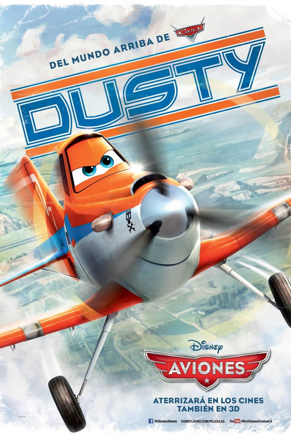 Planes - animated Disney film poster  - Dusty