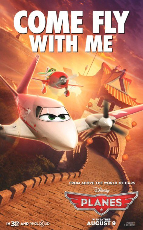 Planes - animated Disney film poster  - come fly with me