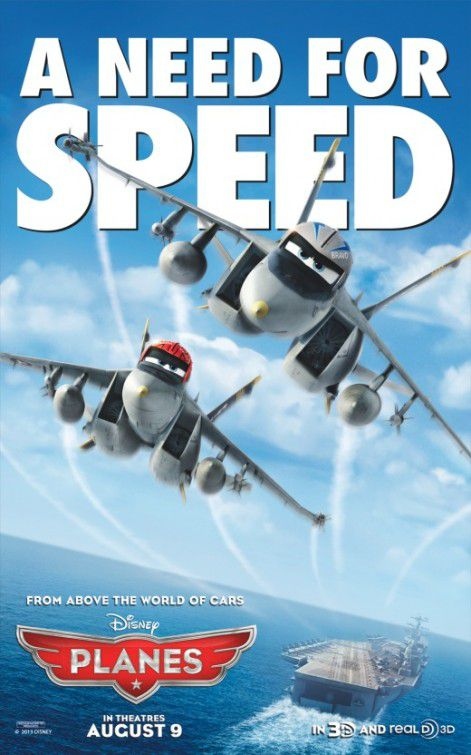 Planes - animated Disney film poster  - a Need for Speed