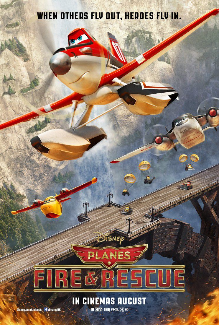 Planes Fire and Rescue - animated Disney film poster