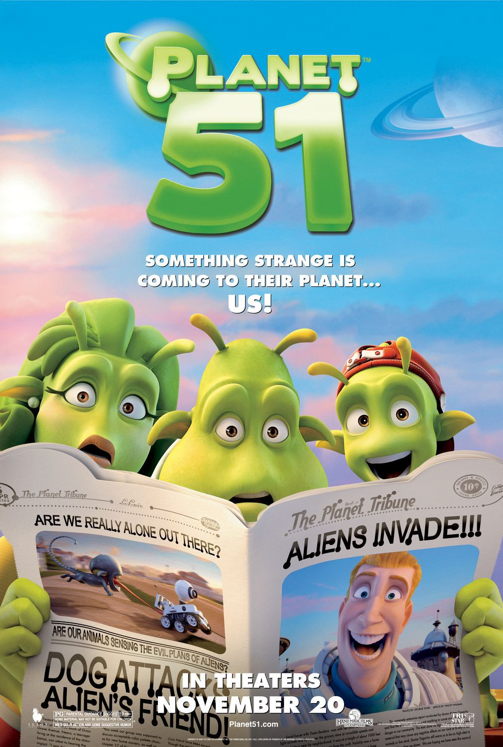 Planet 51 - alien newspaper