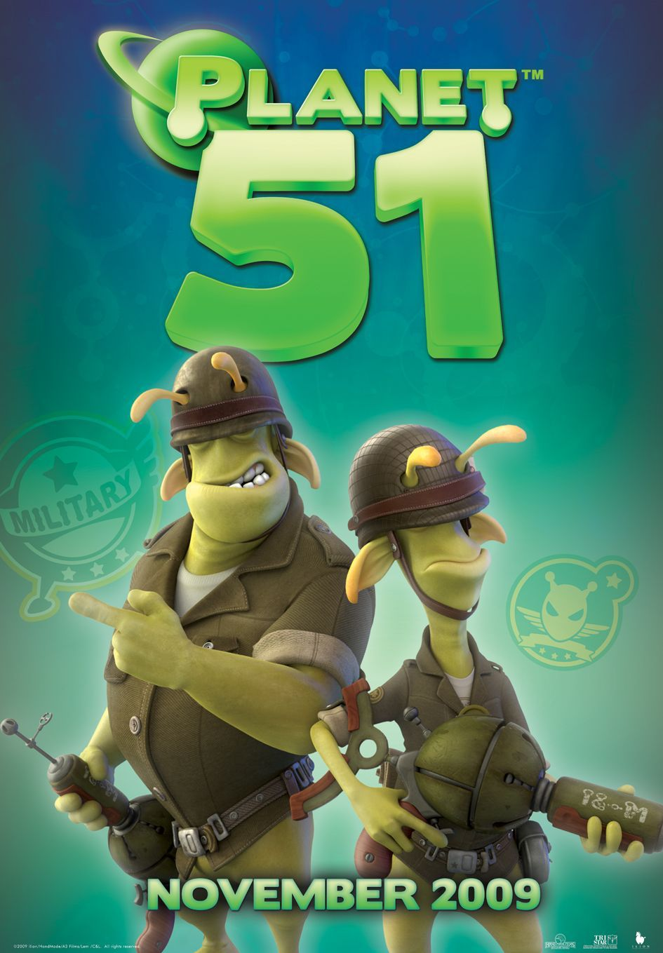 Planet 51 - alien army force