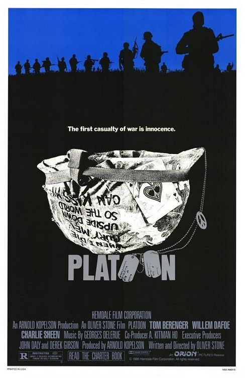 Platoon cult war film poster