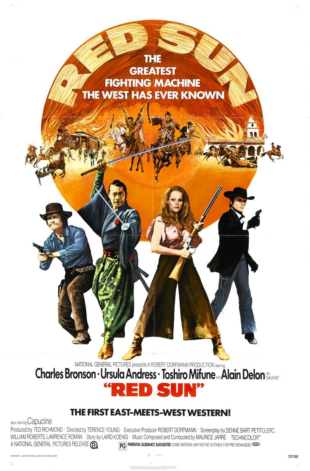 Red Sun - Sole Rosso (1972) - classic western film poster