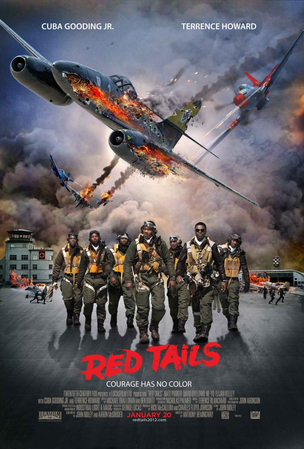 Red Tails - film poster airplane battle