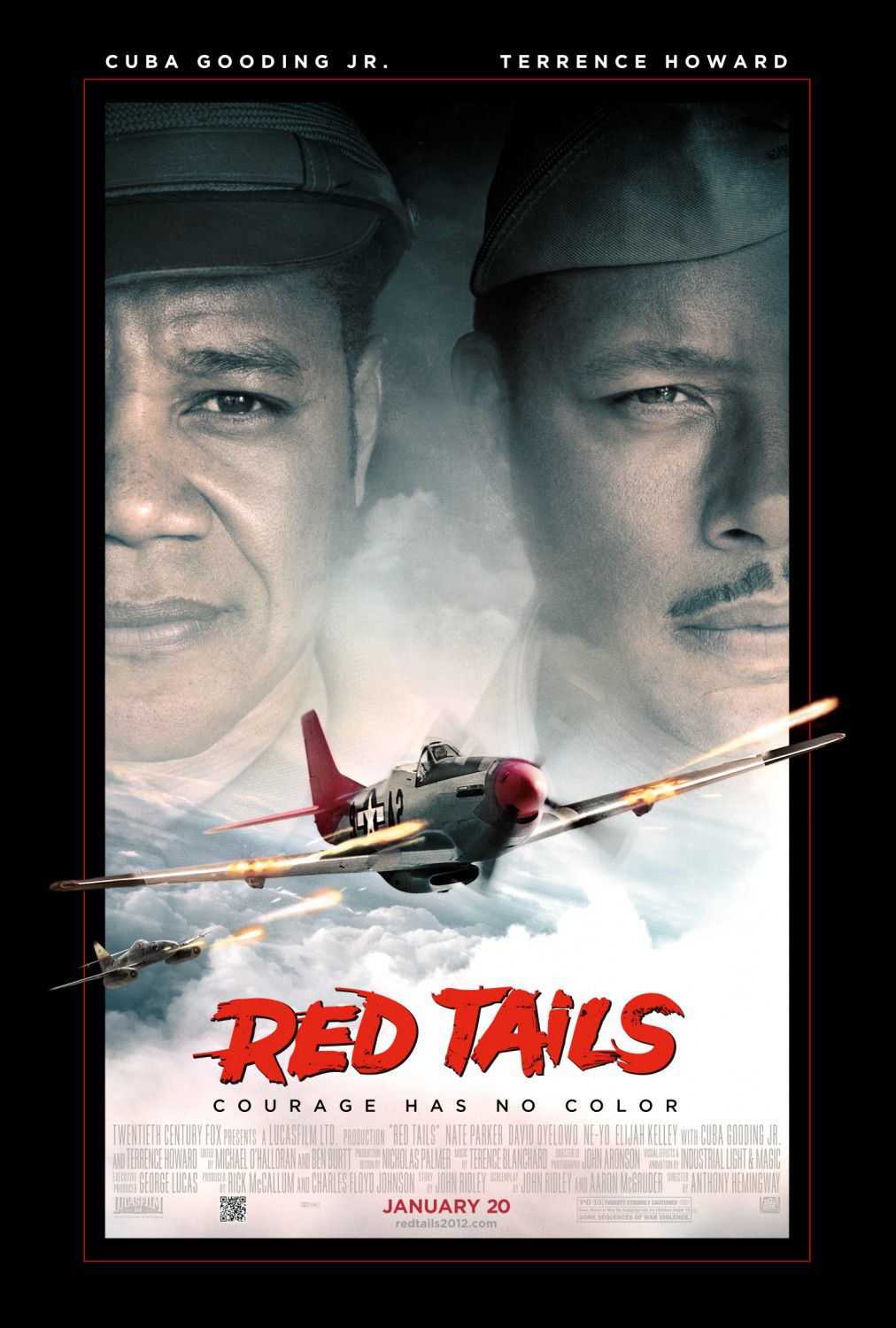 Red Tails - airplane battle film poster