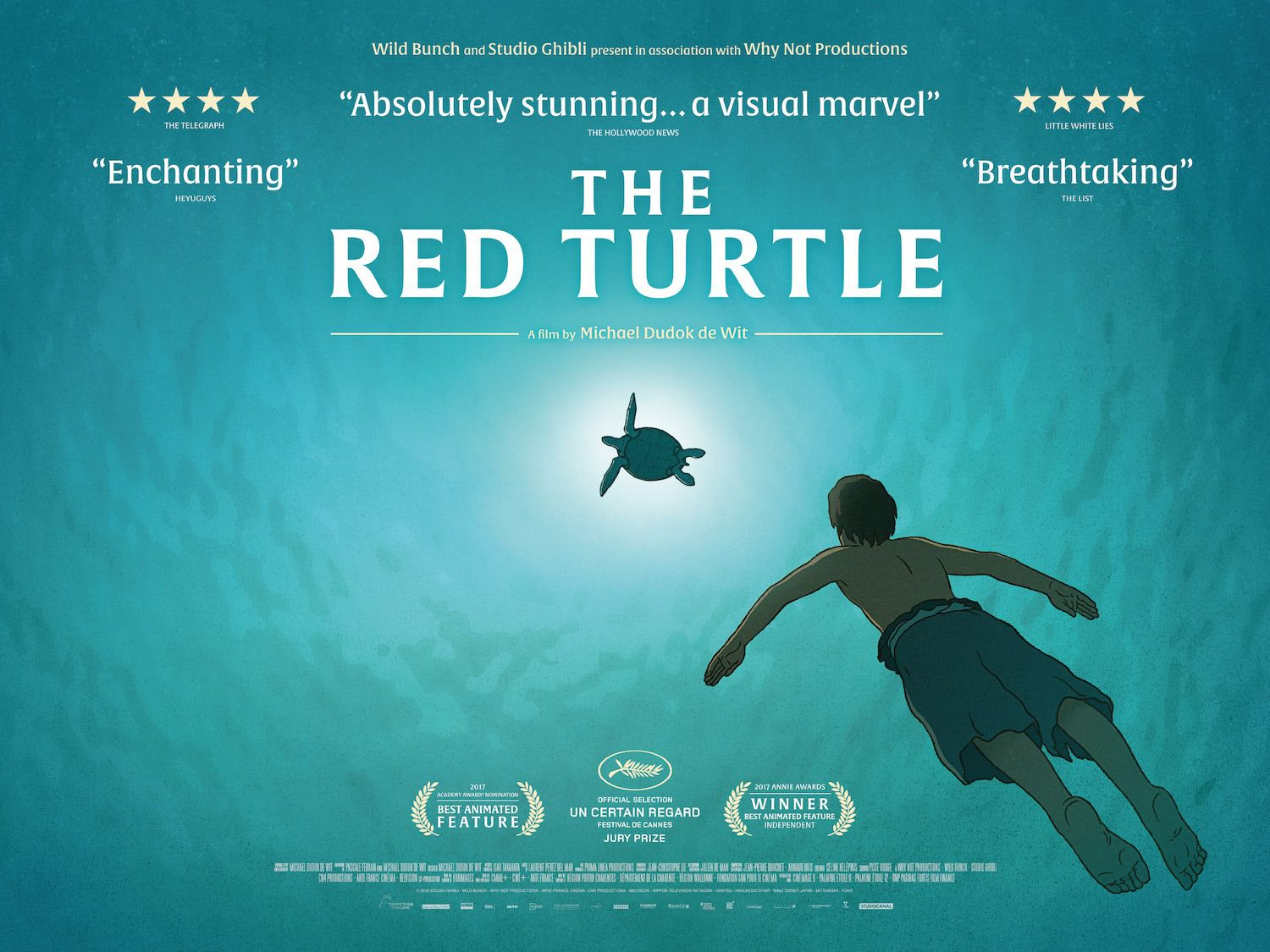Red Turtle - Tartaruga Rossa - animated film poster