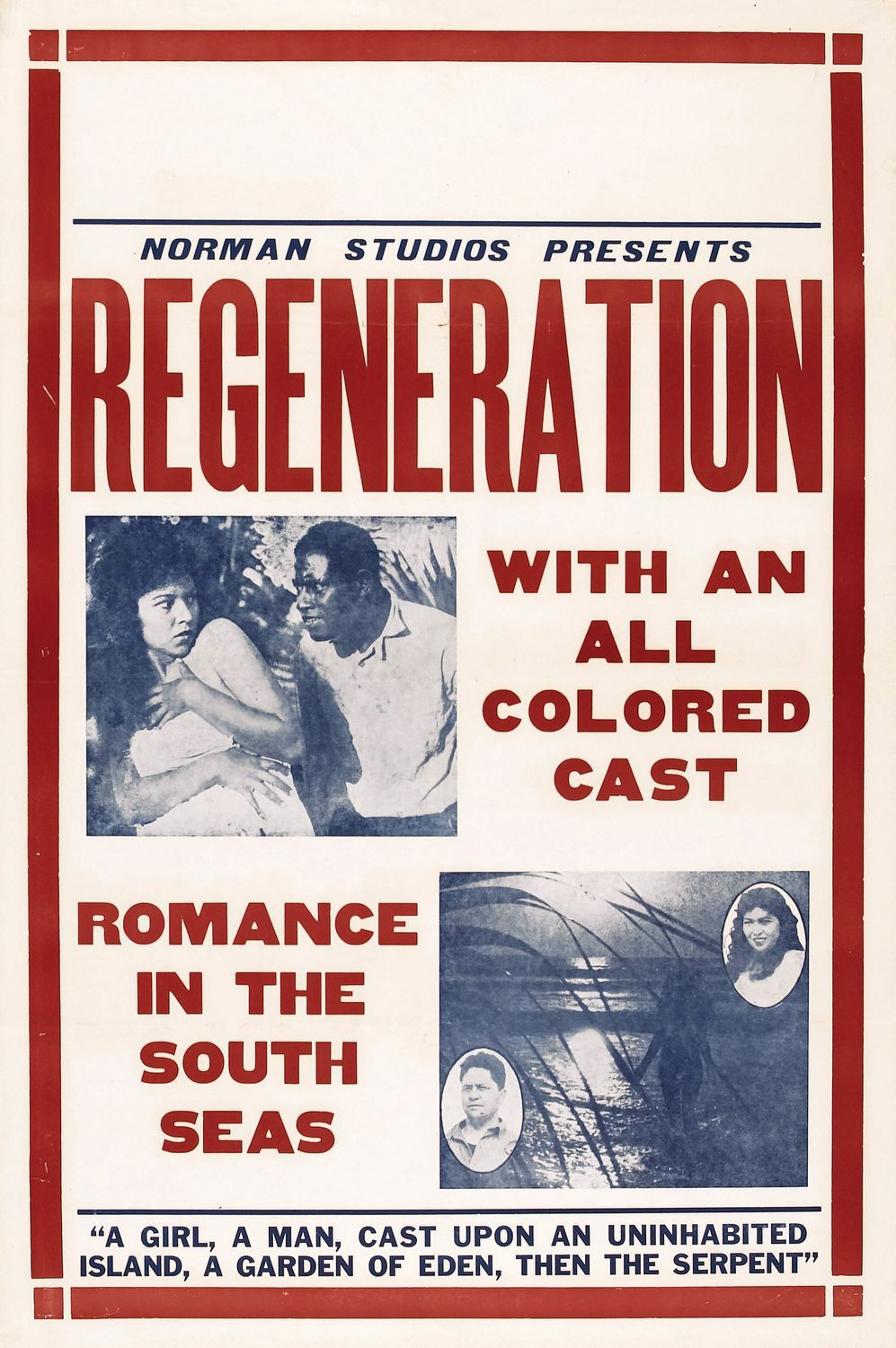 Regeneration (1923) - classic cult old film poster
