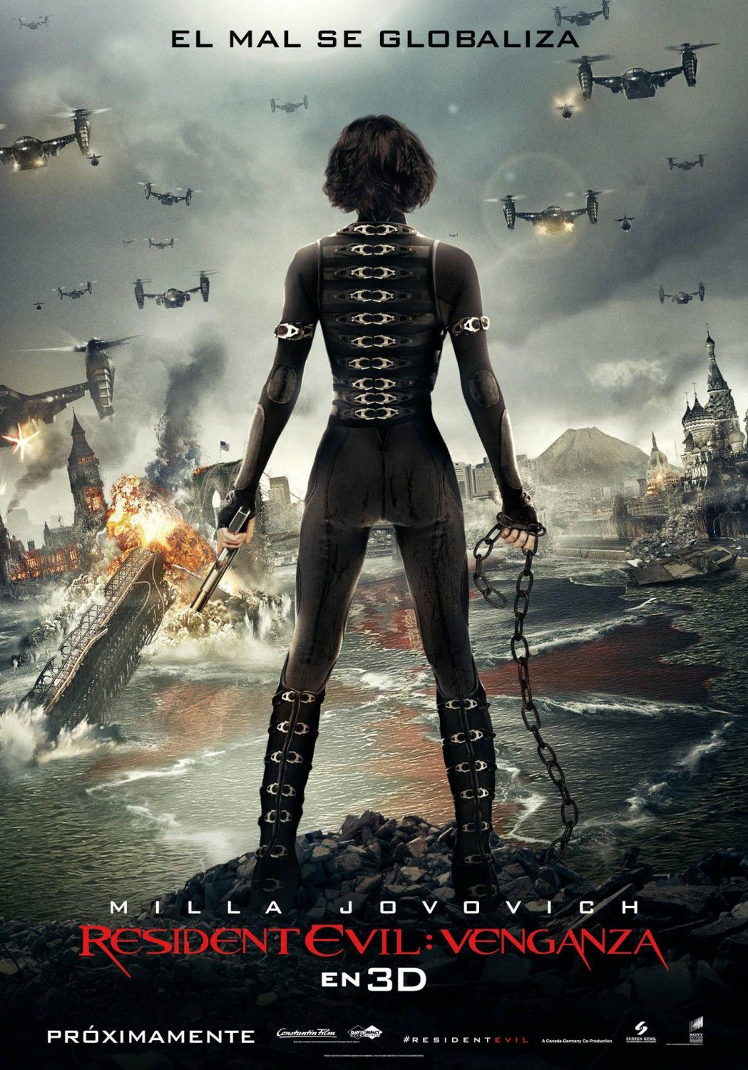 Resident Evil 5 - Retribution (2012) - Final Battle begin - Milla Jovovich is Alice