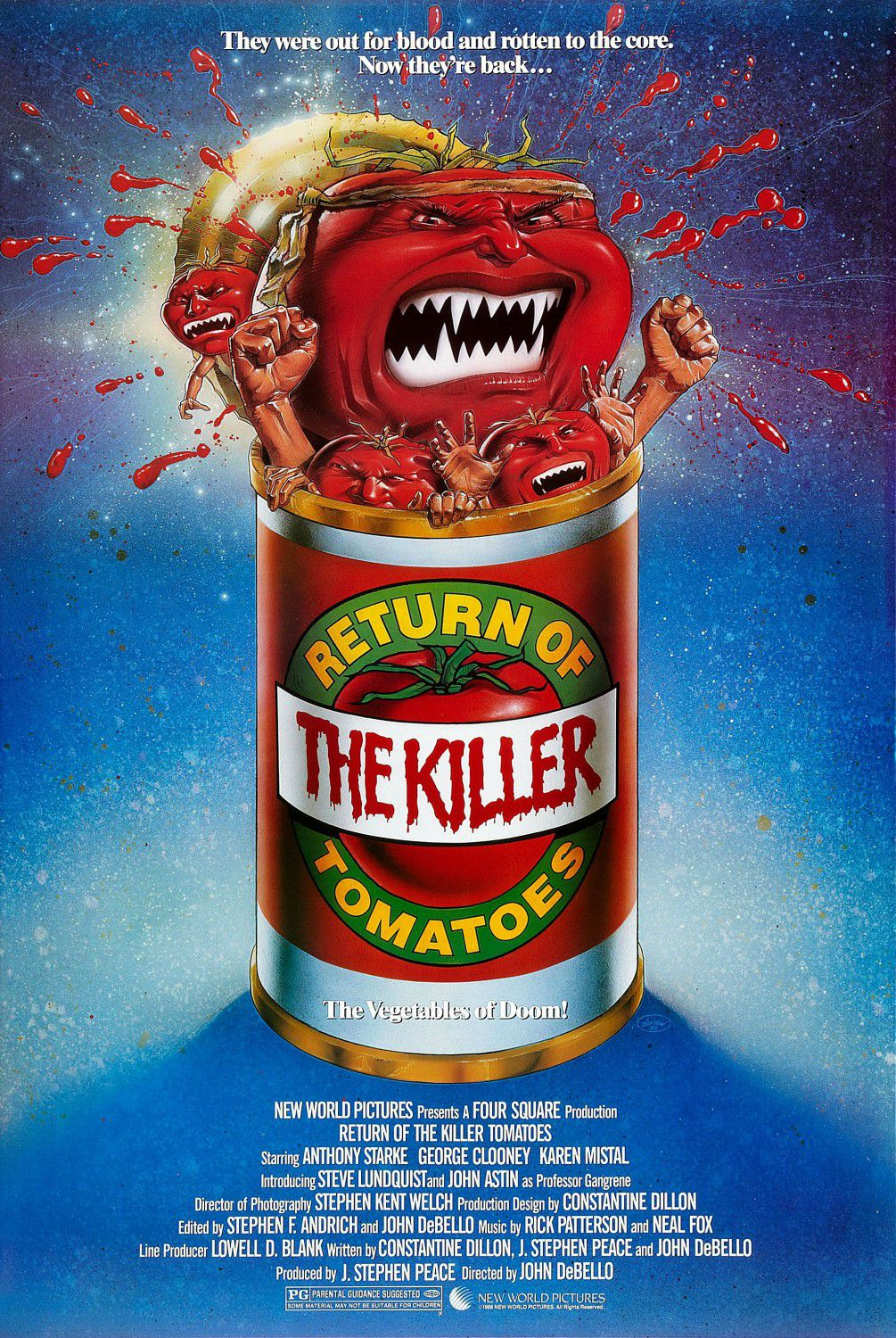 Return of the Killer Tomatoes - Il ritorno dei Pomodori Assassini - horror film poster