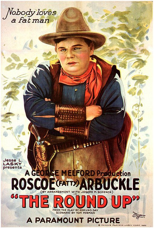 Round Up (1920) - classic cult old film poster