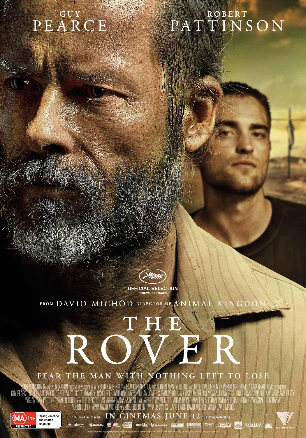 The Rover - Guy Pearce, Robert Pattinson - film poster