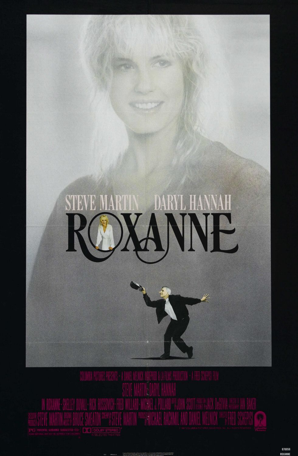Roxanne (1987) - classic 80s love comedy film poster