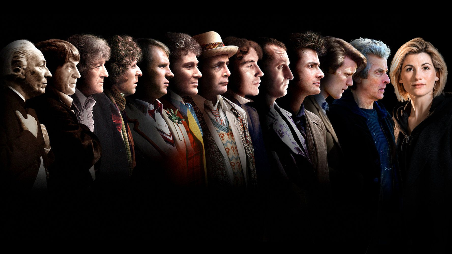 Saga Doctor Who regenerations faces - list films