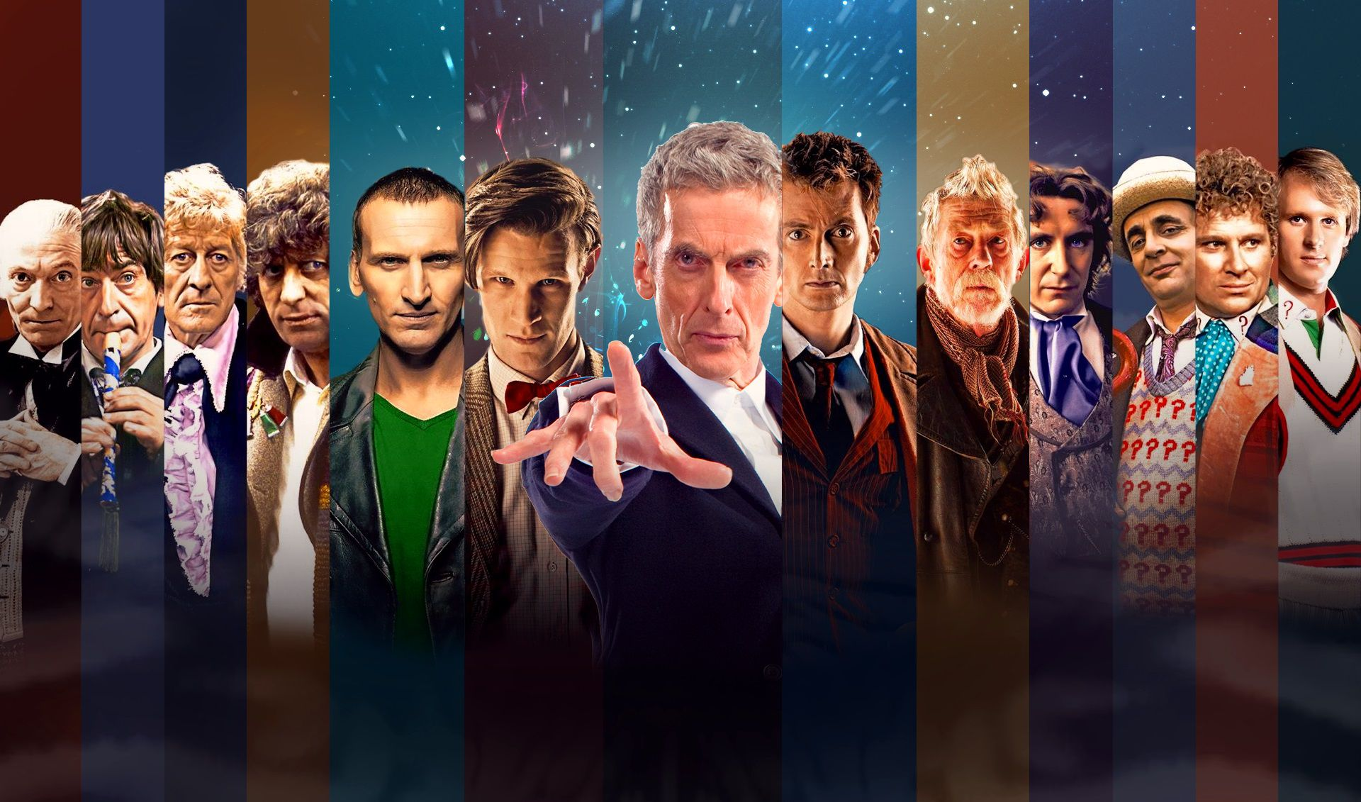 Saga Doctor Who regenerations faces - list film