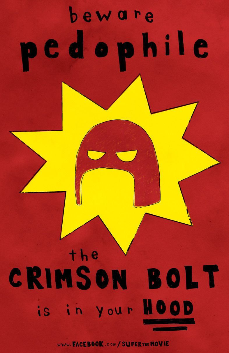 beware pedophile the Crimson Bolt is in your hood