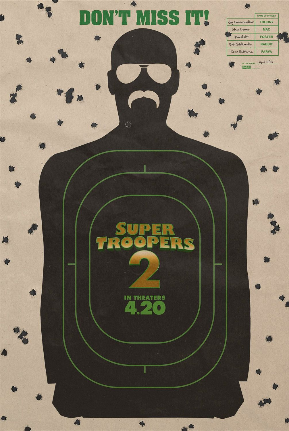 Super Troopers 2 by Jay Chandrasekhar - film poster