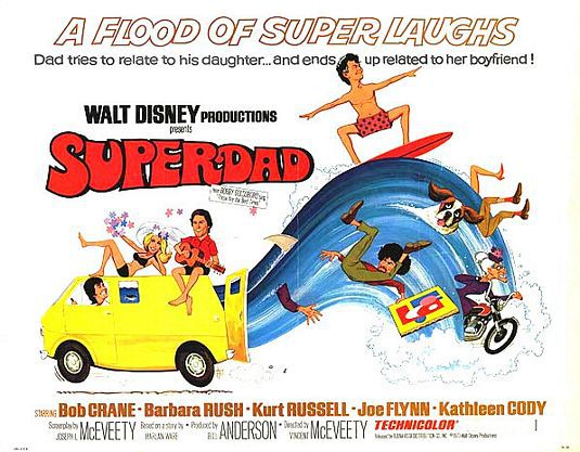 Superdad (1973) - cult wave film poster by Disney