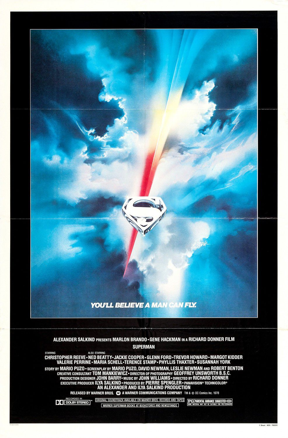 Superman 1 (1978) - poster collection
