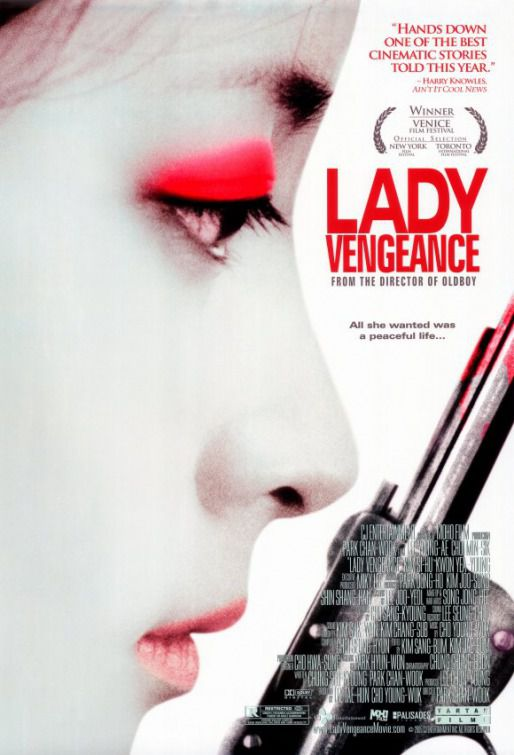 Sympathy for Lady Vengeance - Lady Vendetta - white lady poster
