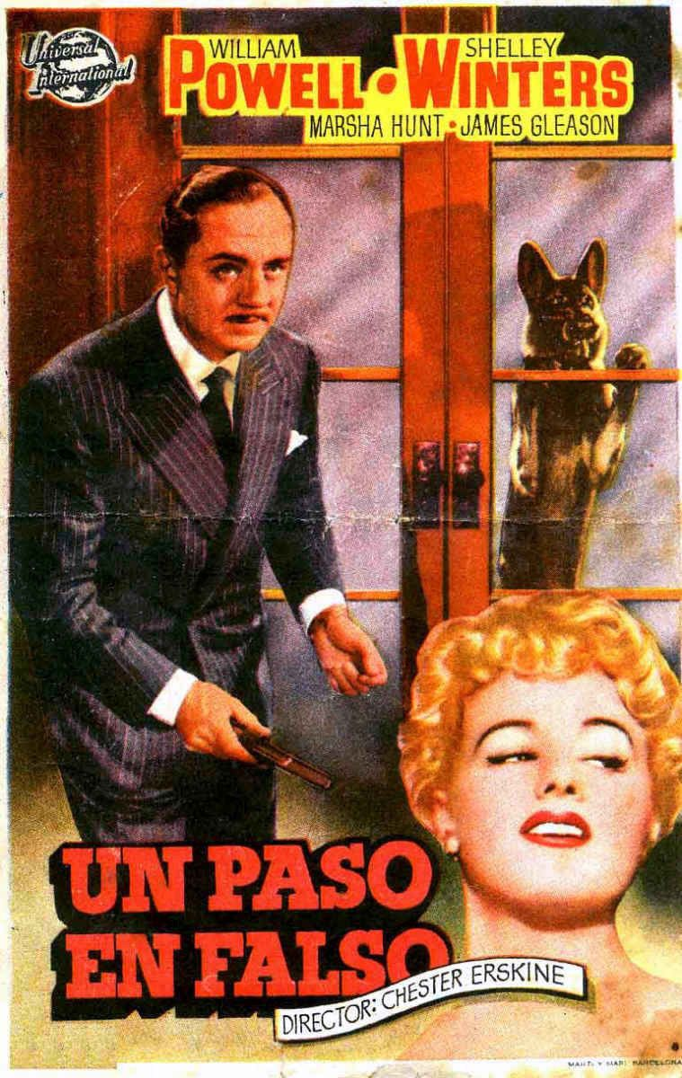 Take one false step (1949) - classic thriller film poster