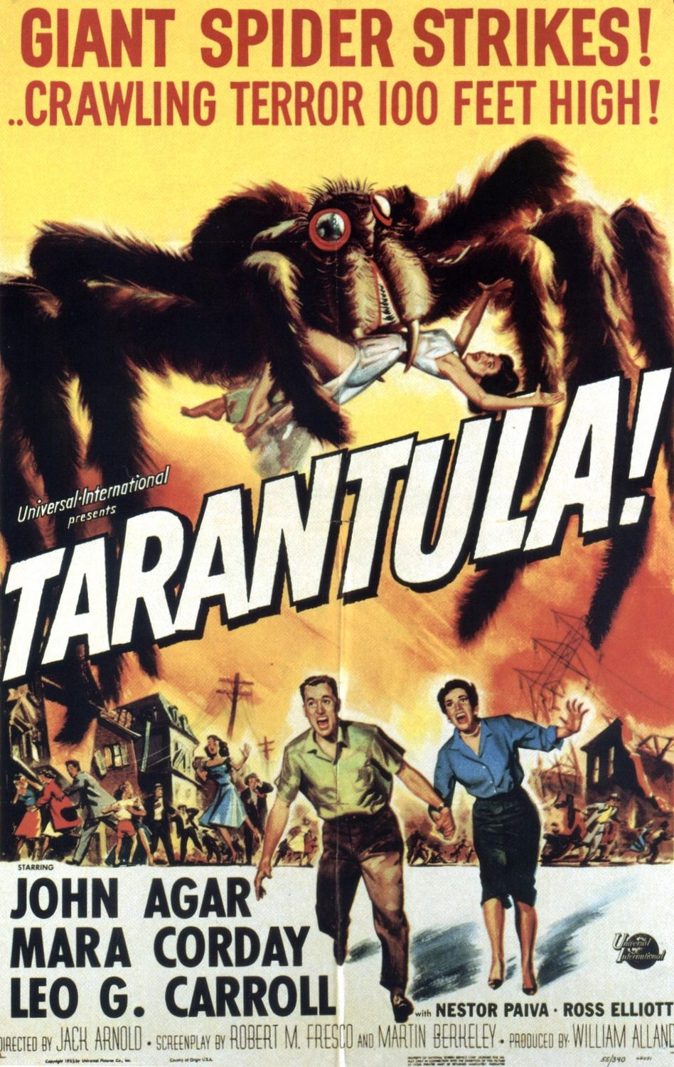 Tarantula (1955) -  cult horror scifi film poster - giant spider invasion