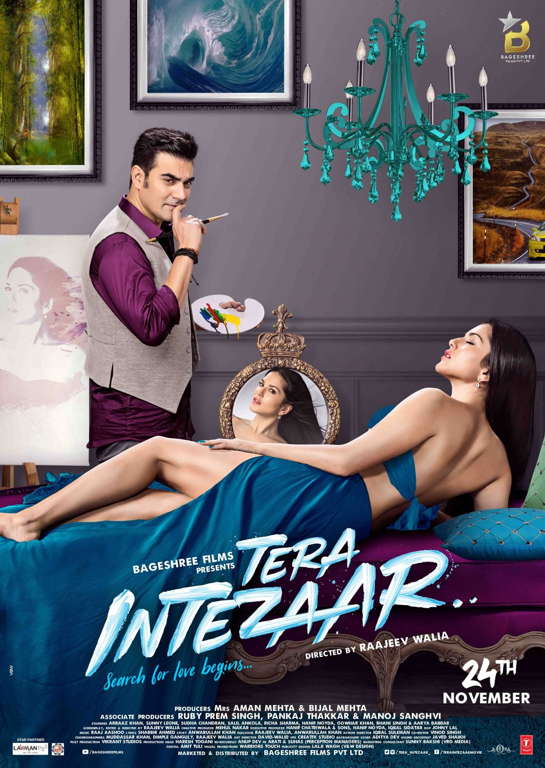 Tera Intezaar - Ti Aspetto - blue film poster art painter