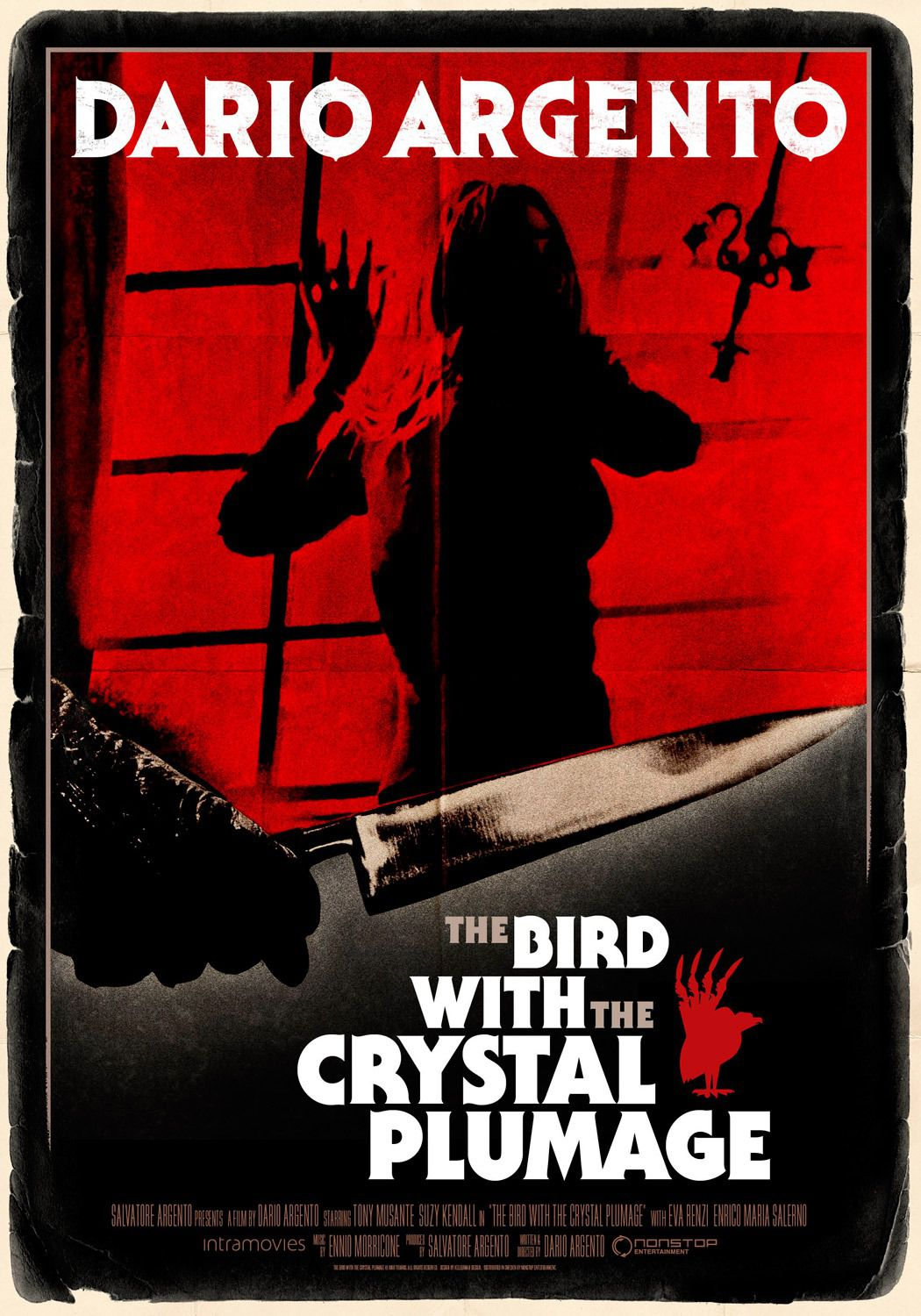 L'Uccello dalle Piume di Cristallo - The Bird with the Crystal Plumage - Dario Argento - horror film poster