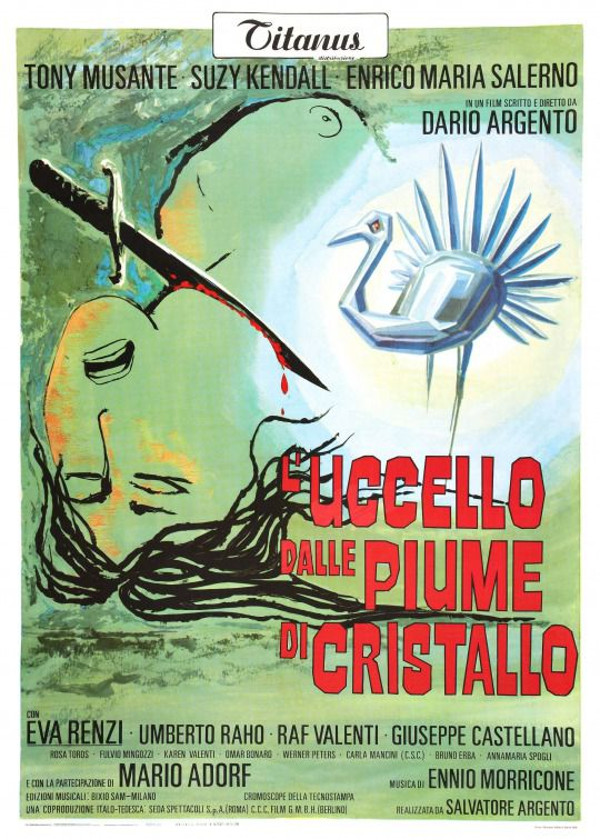 L'Uccello dalle Piume di Cristallo - The Bird with the Crystal Plumage - Dario Argento
