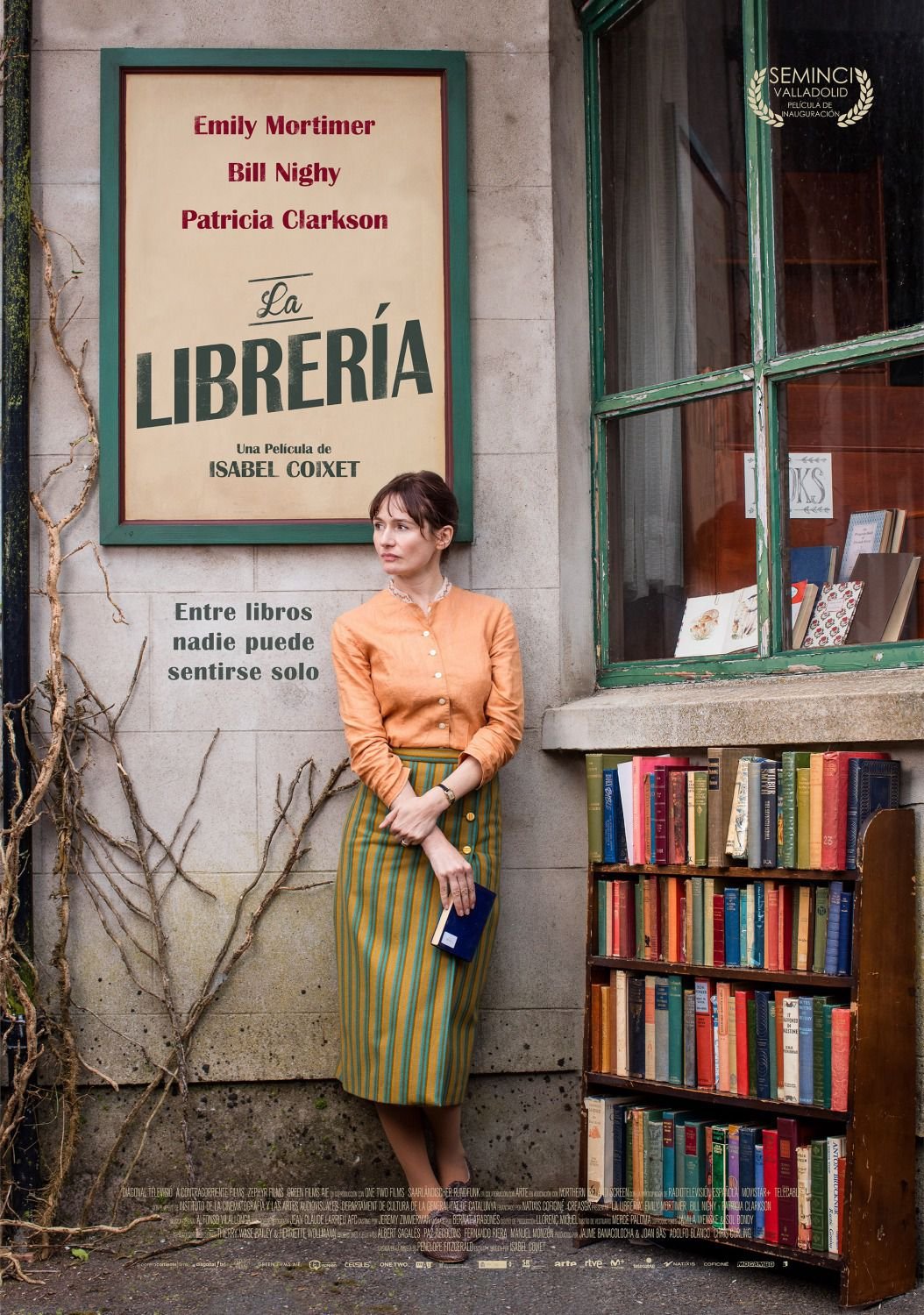 The Bookshop - La Libreria - cast Emily Mortimer, Bill Nighy, Patricia Clarkson - film poster