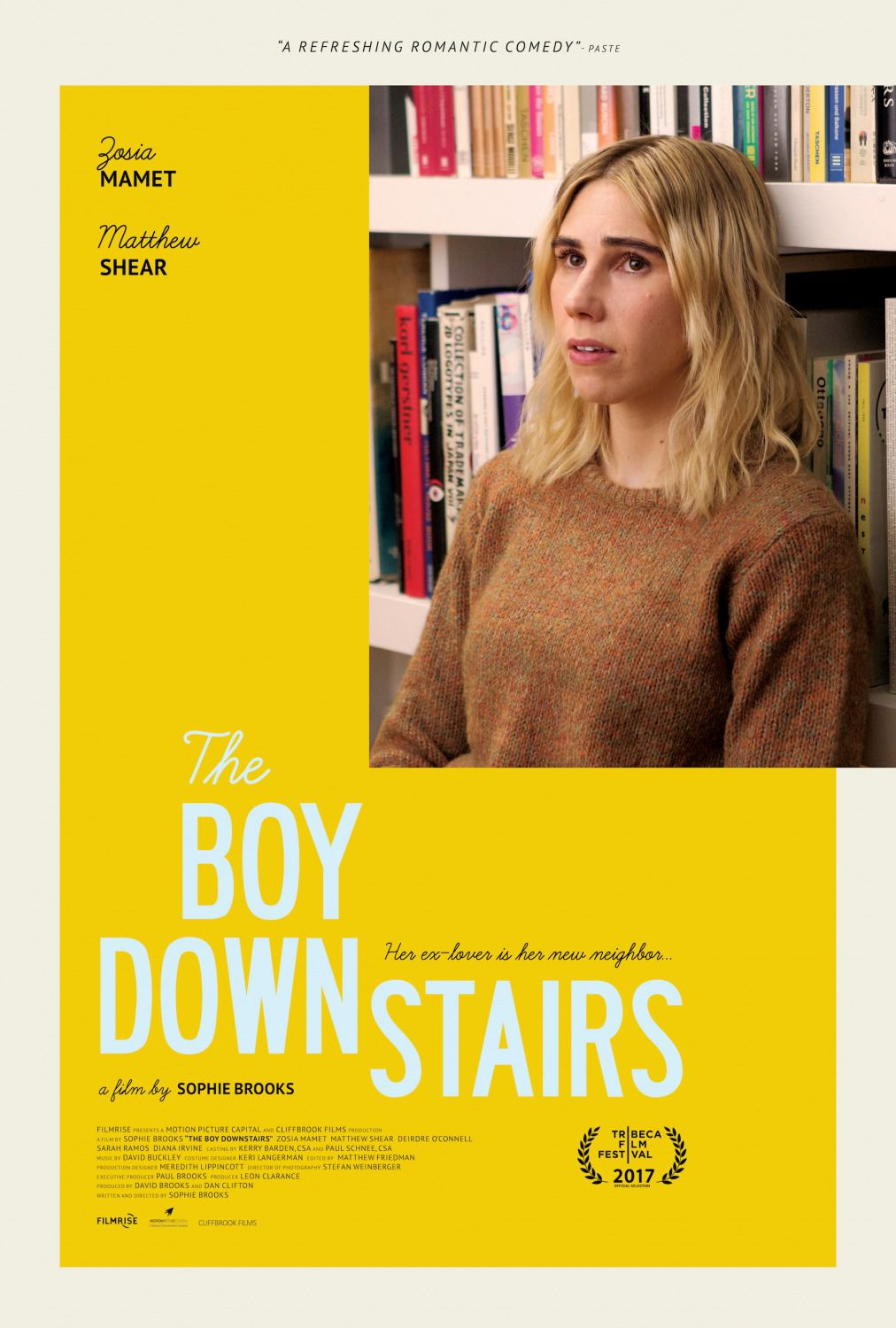 The Boy Downstairs - Il Ragazzo del Piano di Sotto by Sophie Brooks - film poster
