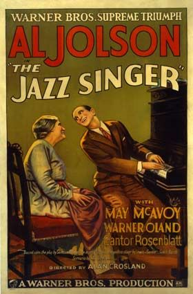 The Jazz Singer by Alan Crosland - 1927 - first movie with sound