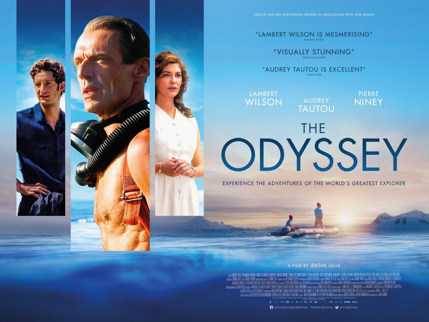 The Odyssey with Lambert Wilson, Audrey Tatou and Pierre Niney