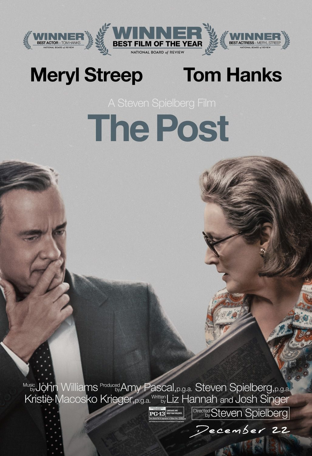 The Post - press film poster - Tom Hanks, Meryl Streep
